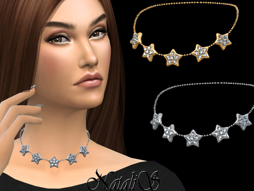 Чокер Diamond Stars Choker Симс 4