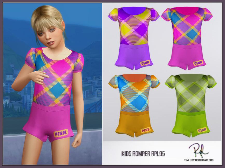 Детский комбинезон Kids Romper RPL95 Симс 4