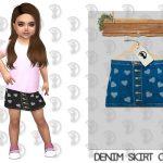 Джинсовая юбка для девочек Симс 4