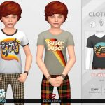 Футболка для детей Retro ReBOOT 70s Shirt for Child 01 Симс 4