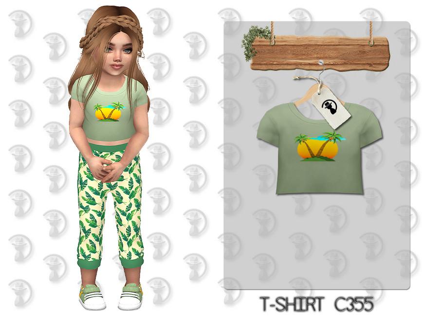 Футболка для детей T-shirt C355 Симс 4
