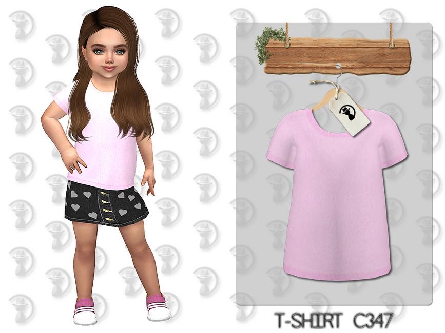 Футболка для девочек T-shirt C347 Симс 4