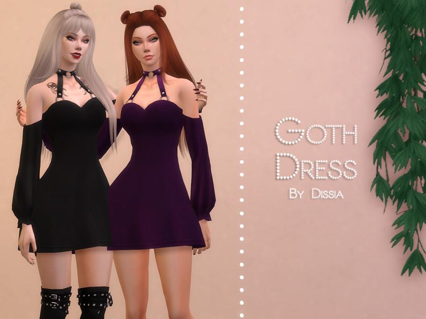 Готическое платье Симс 4