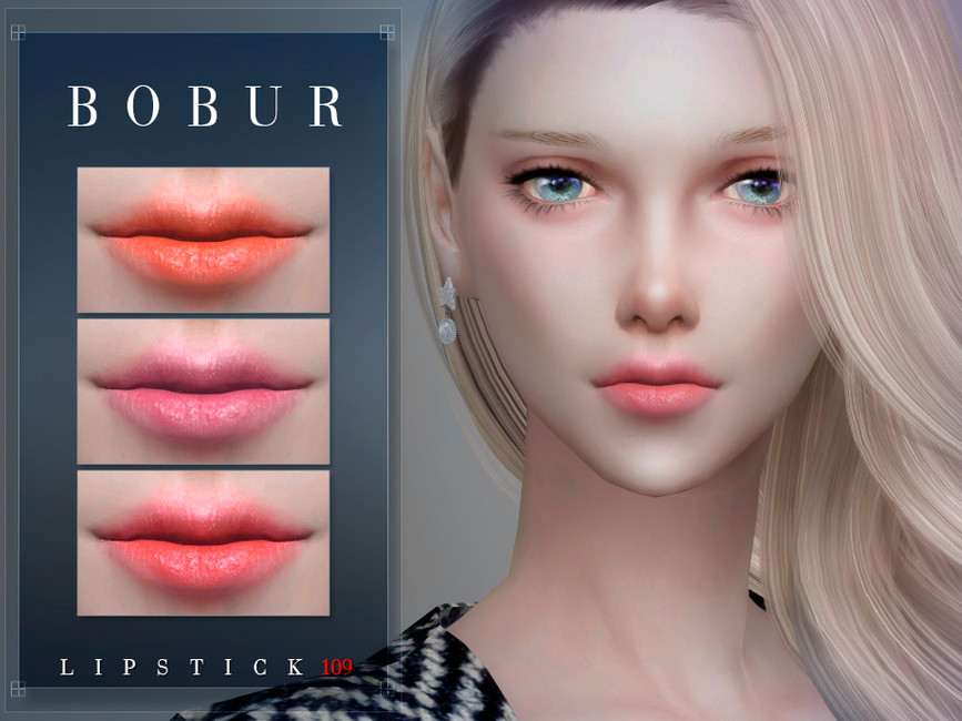 Губная помада Bobur Lipstick 109 Симс 4 (картинка 2)