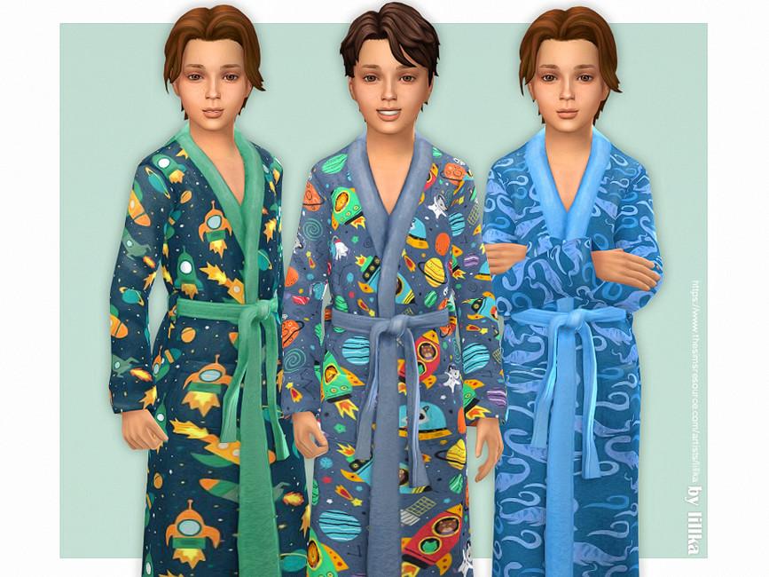 Халат для мальчиков Симс 4