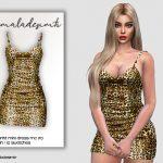 Мини платье с принтом Симс 4