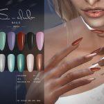 Моды длинные ногти Симс 4
