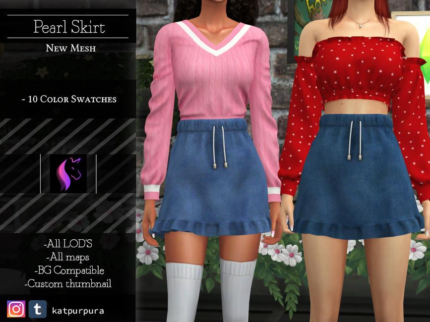 Моды короткие юбки для Симс 4