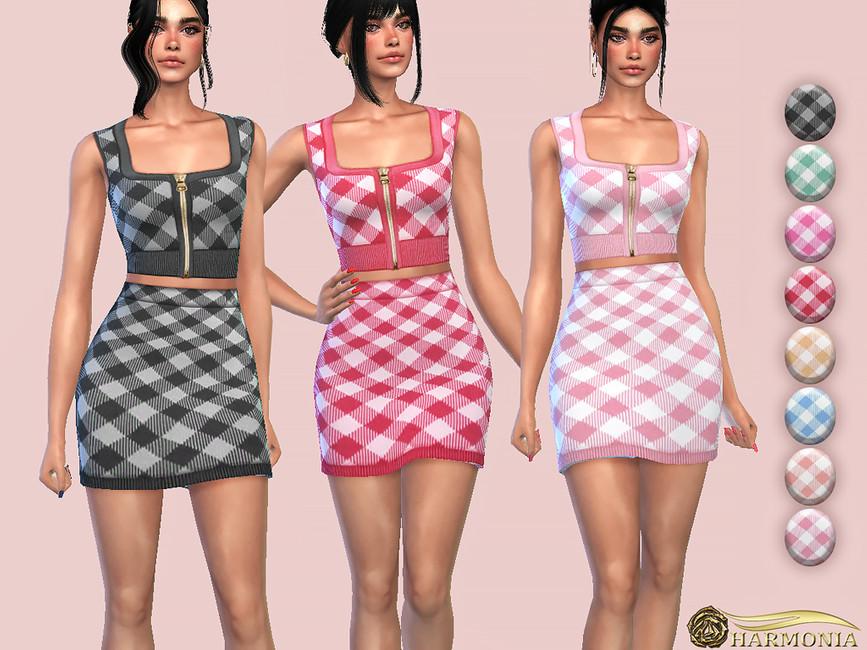 Моды мини юбки Симс 4