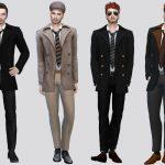 Моды мужская куртка для Симс 4