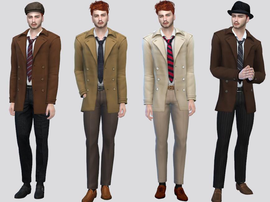 Моды мужская куртка для Симс 4 (картинка 2)