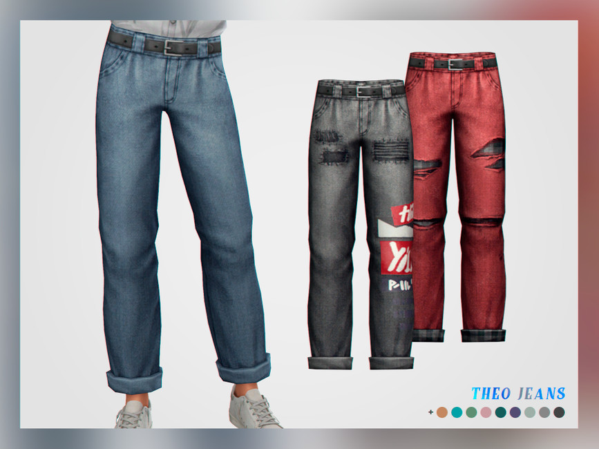 Моды мужские джинсы для Симс 4