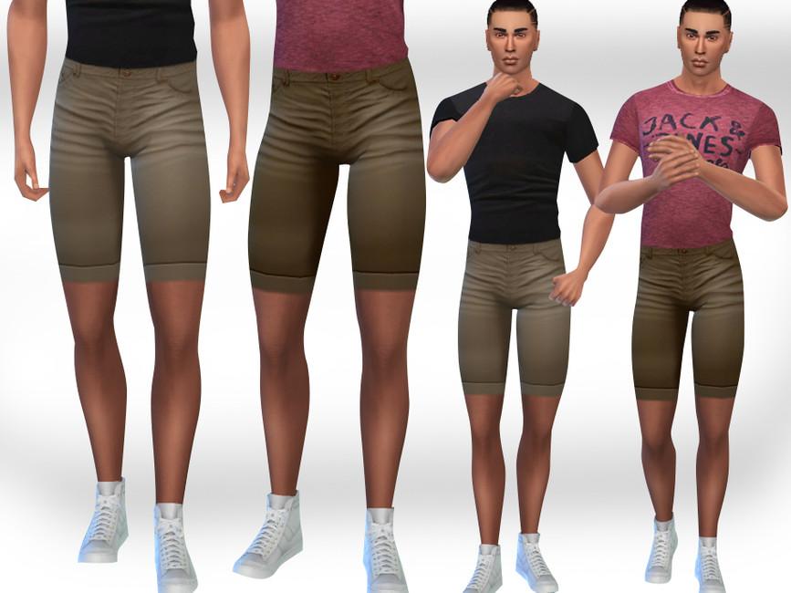 Моды мужские шорты Симс 4