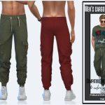 Моды мужские штаны для Симс 4