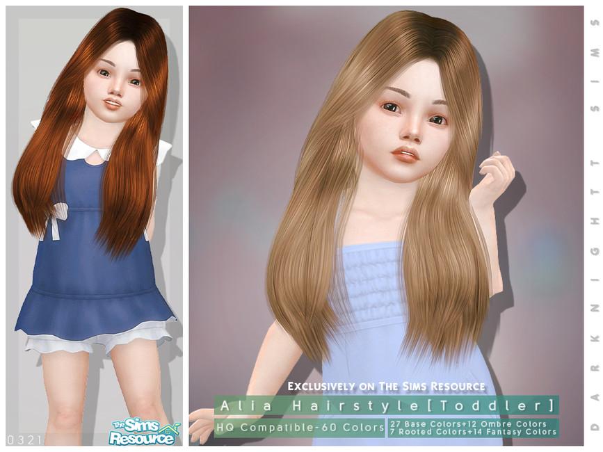 Моды прически для малышей Симс 4