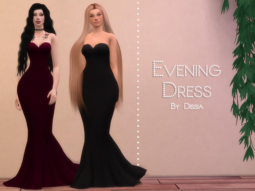 Моды вечерние платья для Симс 4