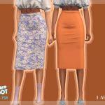 Мод женские юбки Симс 4