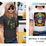 Мужские футболки Retro T-Shirt V2 Симс 4