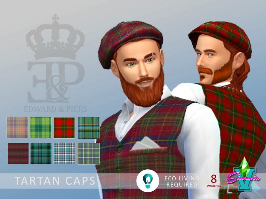 Мужские кепки Симс 4