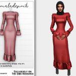 Одежда длинные платья Симс 4