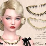 Ожерелье Coro Lucite Necklace 50s Симс 4