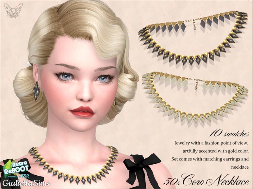 Ожерелье Coro Lucite Necklace 50s Симс 4