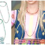 Ожерелье Retro ReBOOT - Pattie Necklace Симс 4