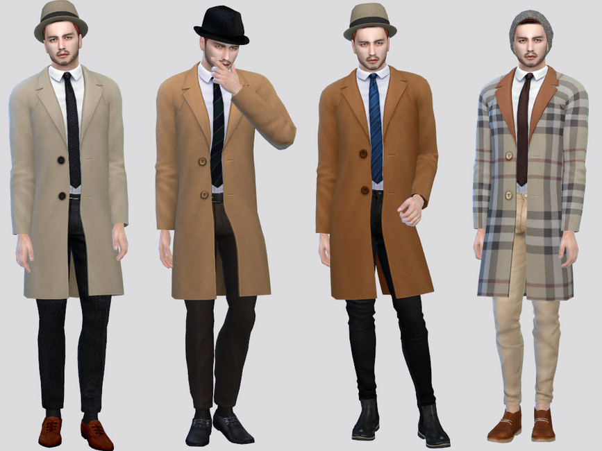 Пальто для мужчин Симс 4