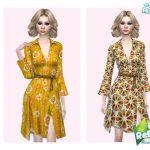 Платье 60s Flower Dress Симс 4