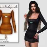 Платье Butterfly Dress MC165 Симс 4