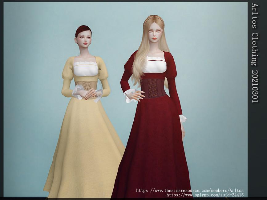 Платье Clothing 20210301 Симс 4