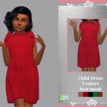 Платье для детей Child Dress Allana Симс 4