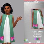 Платье для детей Child Dress Sandra Симс 4