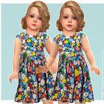 Платье для девочек Willow Dress Симс 4