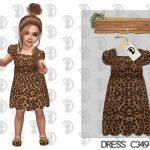 Платье для малышей Dress C349 Симс 4