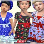 Платье для малышей Dress Pin Up Симс 4