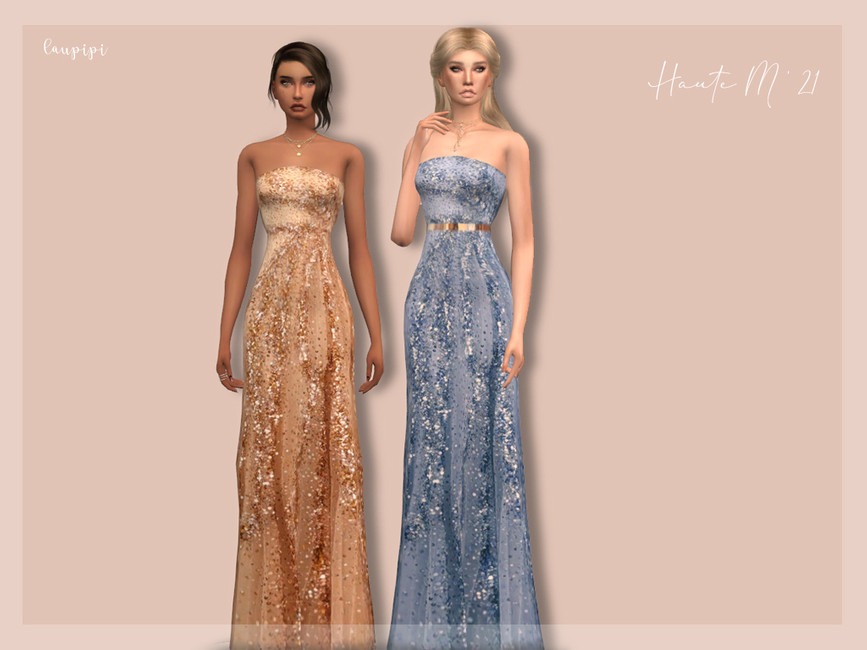 Платье Embellished Dress - DR404 Симс 4