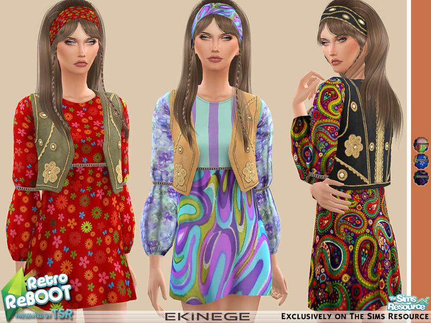 Платье Hippie Dress Симс 4
