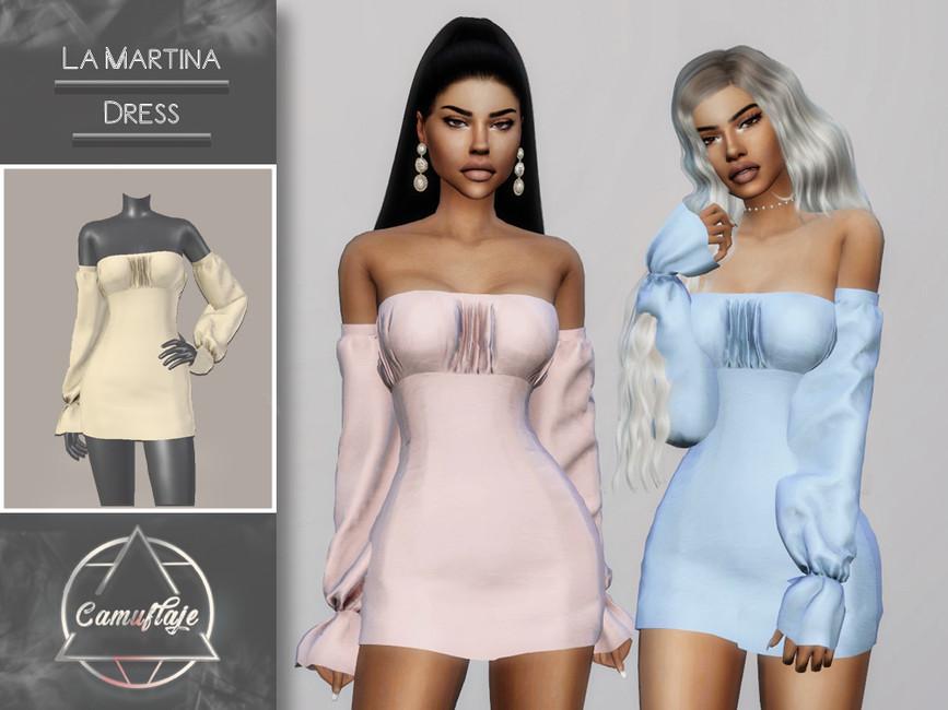 Платье La Martina (Dress) Симс 4