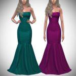 Платье Lust Gown (Strapless) Симс 4