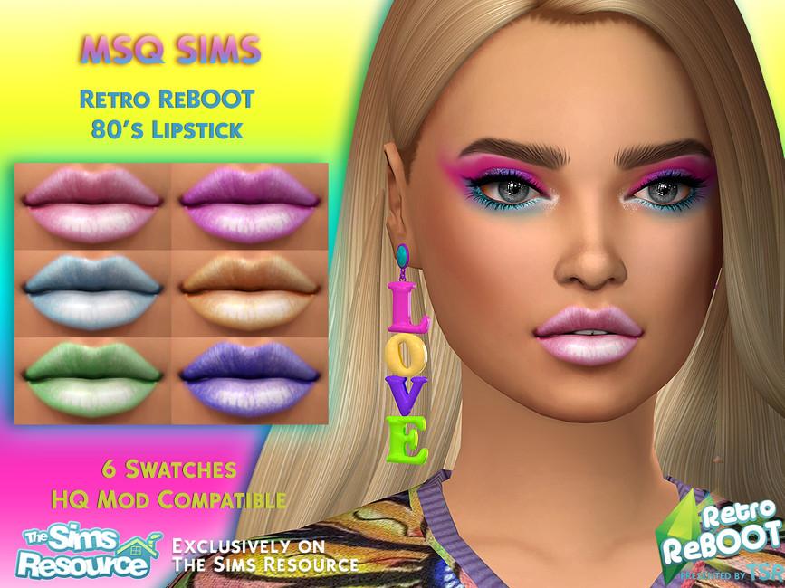 Помада Retro ReBOOT 80s Lipstick Симс 4