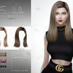Прическа ts4 hair n77 Fay Симс 4