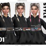 Прически для девушек Yara Hairstyle Симс 4