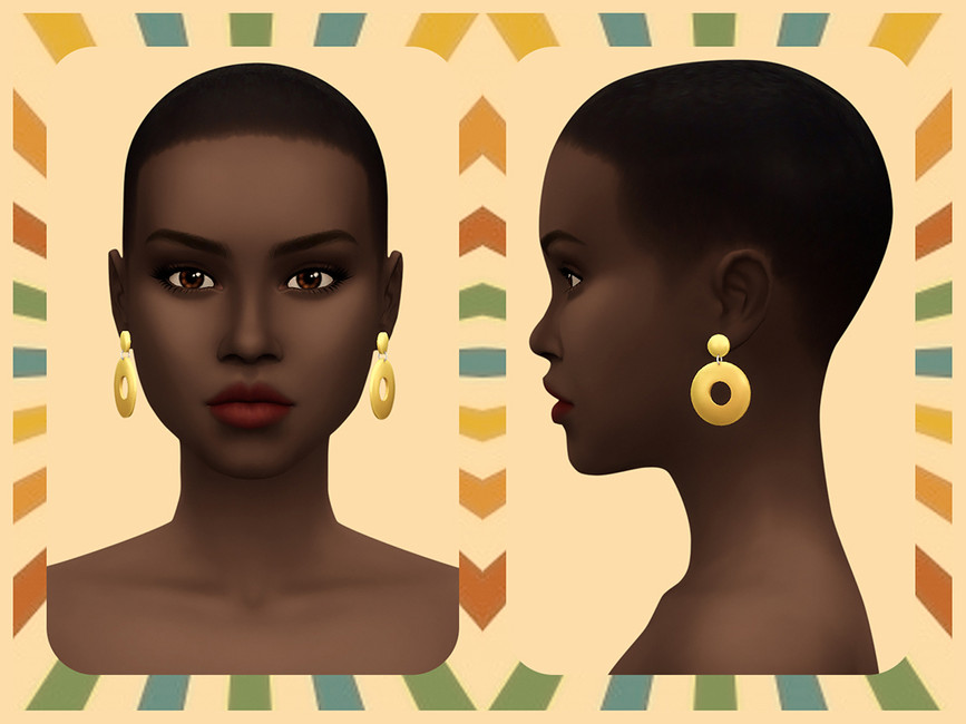 Сережки 60's Hoops Earrings Симс 4 (картинка 2)