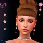 Сережки Sakura Earrings Симс 4