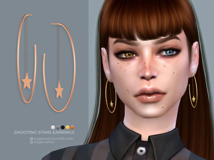 Сережки Shooting Stars Earrings Симс 4