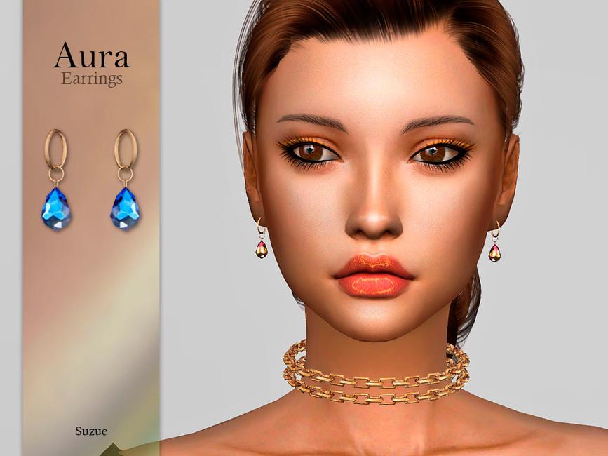 Серьги Aura Earrings Симс 4