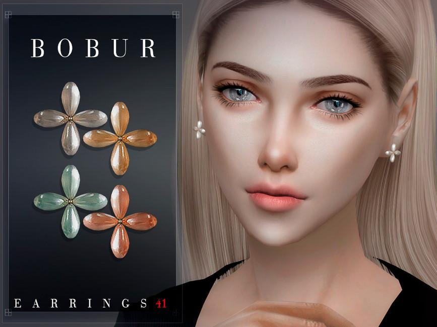 Серьги Bobur Earrings 41 Симс 4