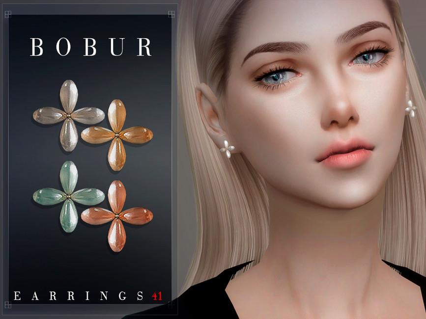 Серьги Bobur Earrings 41 Симс 4 (картинка 2)