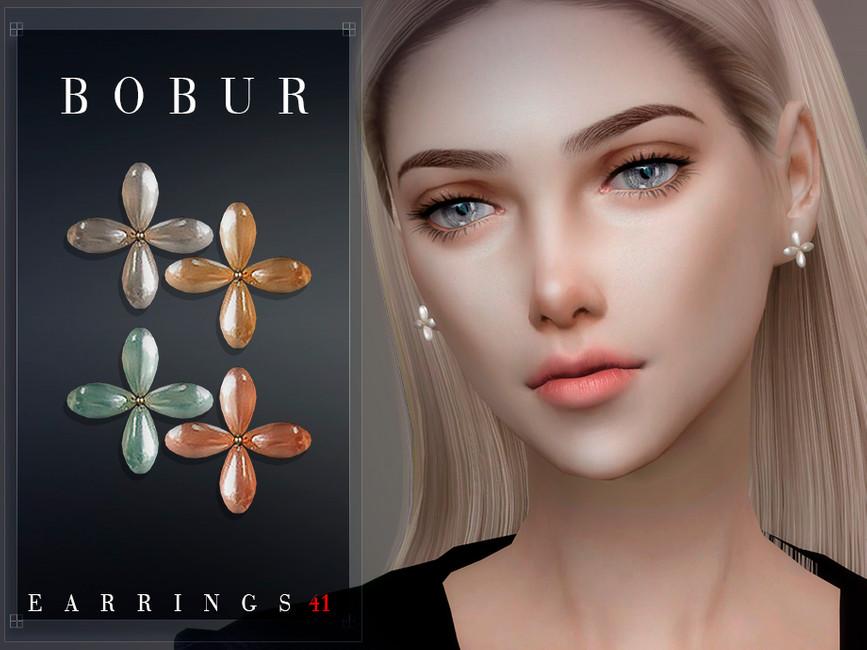 Серьги Bobur Earrings 41 Симс 4 (картинка 3)